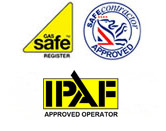 Air conditioning and heating services accreditation logos
